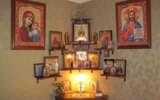 В какой угол вешать иконы в доме