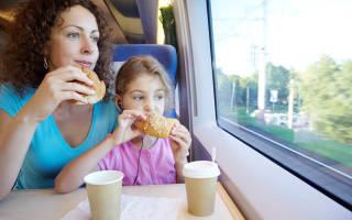 Что взять покушать в поезд на сутки