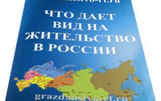 Что даёт вид на жительство в России