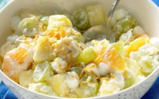 Как приготовить салат из фруктов