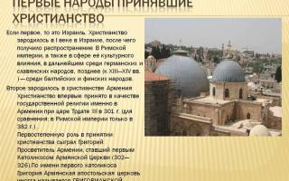 Какие народы христианской веры