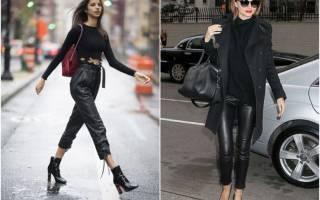 С чем носить кожаные штаны