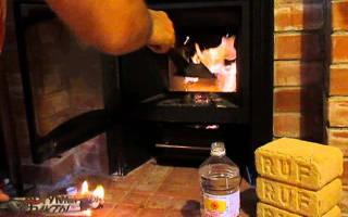 Как топить печку торфяными брикетами