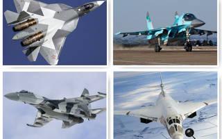 Как выглядят военные самолеты России