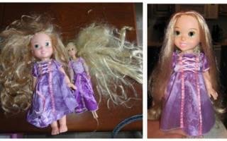 Как восстановить волосы кукле