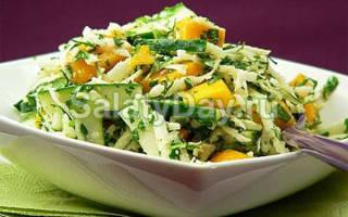 Как сделать салат из свежих овощей
